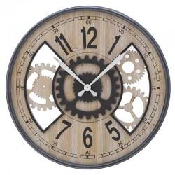 Ρολόι τοίχου ξύλινο-μεταλλικό