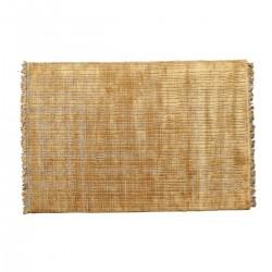 Χαλί χειροποίητο με υπόσρωμα χρώμα κεχριμπάρι,160x240cm | ZAROS