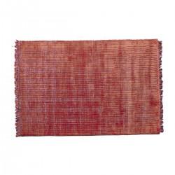 Χαλί χειροποίητο με υπόστρωμα, χρώμα σκουριάς,160x240cm | ZAROS