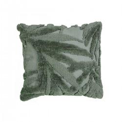 Μαξιλάρι υφαντό με ανάγλυφα φύλλα,πράσινο,45x45cm | ZAROS