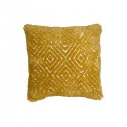 Μαξιλάρι υφαντό σχ.ρόμβος,κεχριμπάρι,50x50cm | ZAROS