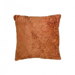 Μαξιλάρι ζακάρ σε χρώμα της κανέλας,45x45cm | ZAROS