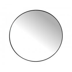 Στρογγυλός καθρέπτης με μαύρη μεταλλική κορνίζα, δ.80cm | ZAROS