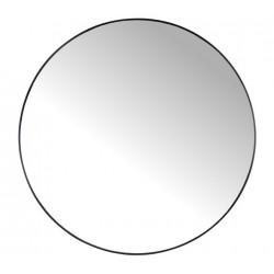 Στρογγυλός καθρέπτης με μαύρη μεταλλική κορνίζα, δ.116cm   ZAROS