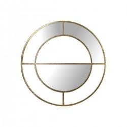 Διακοσμητικός καθρέπτης με μεταλλική χρυσή κορνίζα,77.5cm | ZAROS