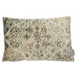 Μαξιλάρι βελούδο vintage περσικό σχ,μπεζ 40x60