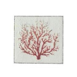 """Διακοσμητικό """"Κοράλι"""" σε μεταλλικό καμβά,μπλε χρ.,45cm"""