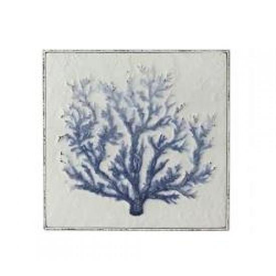 """Διακοσμητικό """"Κοράλι"""" σε μεταλλικό καμβά, κοραλί χρ.,45cm"""